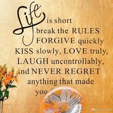 Home Decor Online Shopping Cheap Life Is Short Kiss Slowly Love Truly Inspirational Quotes And