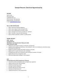 resume for apprentice electrician unforgettable apprentice