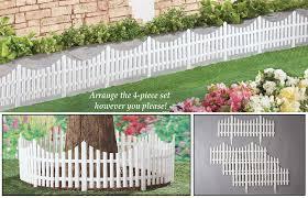 amazon com collections etc flexible white picket fence garden