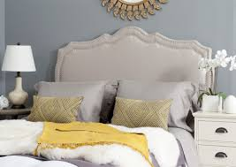 bedroom beige leather headboard also wayfair headboards and king