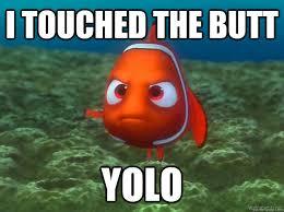 Butt Meme - i touched the butt yolo nemo yolo meme quickmeme