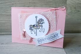 carousel birthday card confetti design