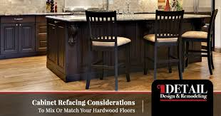 should countertops match floor or cabinets cabinet refacing atlanta matching your cabinets and wood floors