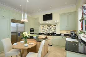 bespoke kitchen by secret drawer painted in farrow u0026 ball u0027s