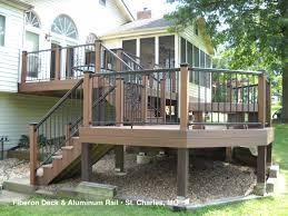 decks railing composite