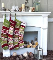 personalized knitted christmas stockings red green white