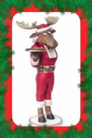 this life size funny christmas moose resin statue is sure to not