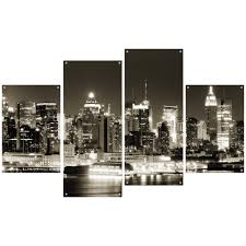 Metal Wall Decor Target by New Metal Wall Art New York City Skyline 48 For Target 3 Piece
