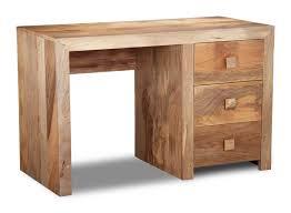 Solid Wood Computer Desk Dakota Furniture Solid Mango 3 Drawer Desk 50l Ebay