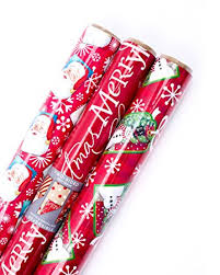 thick christmas wrapping paper hallmark christmas reversible wrapping paper santa 3