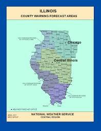 Illinois County Map Maps Illinois County Warning Forecast Areas