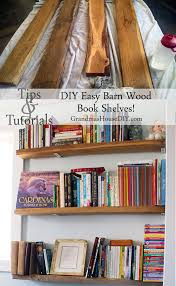 how to build easy barn wood book shelves grandmas house diy
