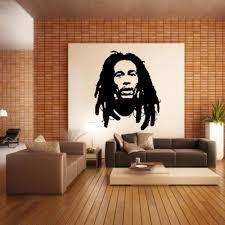 chambre bob marley bob marley wall sticker vinyle décor mural chambre cuisine reggae