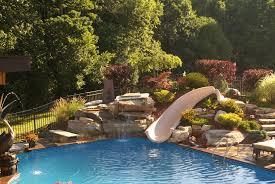 exterior best garden and backyard waterfalls design ideas home