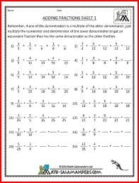 math worksheets for 5th grade fractions free worksheets library