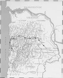 Tillamook Oregon Map by Upper Salmonberry Forest Hiker