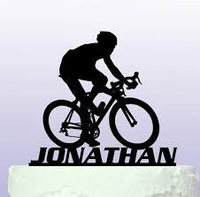 sports cake toppers acrylic personalised name road bike sports birthday cake toppers