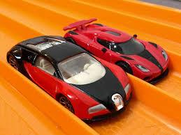 race bugatti veyron vs koenigsegg agera r hot wheels youtube