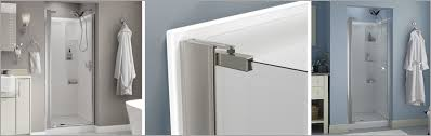 pivoting shower doors a guide on no top track style pivoting