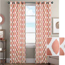 Walmart Red Grommet Curtains by Better Homes And Gardens Ikat Diamonds Curtain Panel With Grommets