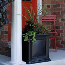 dura trel square vinyl quintana slatted planter hayneedle