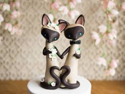 cat wedding cake topper siamese cat wedding cake topper by bonjour poupette
