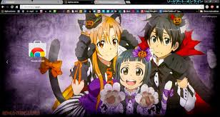 theme google chrome sword art online animé imágenes by akatsuki karasu temas chrome sword art online