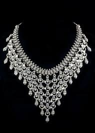 Diamond Chandelier Necklace Sterling Chandelier Bib Necklace Beautiful Sterling Silver Bib