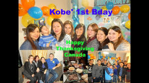 what day is thanksgiving day in canada thanksgiving day canada happy 1st birthday kobe filipina in
