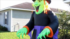 Halloween Outdoor Inflatables by Holidayana Halloween 8 Ft Tall Inflatable Giant Green Witch Youtube