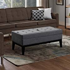 simpli home dover slate grey ottoman bench axcot 238 gl the home