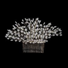 bridal hair comb pearls tree handmade headpiece gold bridal hair comb bellebridal