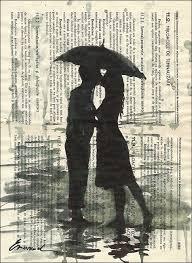 valentine u0027s day gift love couple u0026 umbrella print art ink drawing