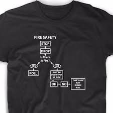 Meme Tees - stop drop fire safety meme t shirt ruff ryder funny cute internet