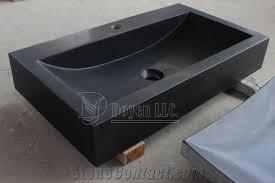 Bathroom Granite Vanity Top China Pure Black Prefab Bathroom Honed Granite Vanity Top Sinks