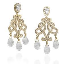Chandelier Gold Earrings Gold Diamond Chandelier Earrings Crystal Earrings Studio1098