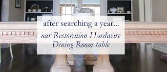 restoration hardware dining room table migonis home