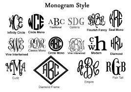 initial fonts for monogram monograms events