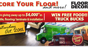 your floor and decor giveaway floor food truck bucks this saturday 10 20