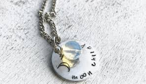 moon goddess necklace jewelry at rock