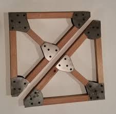 handcrafted wood truss shelf bracket set with steel gussets