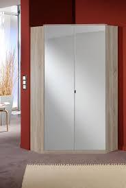 armoire d angle chambre armoire d angle design 2 portes avec miroir coloris chêne telma