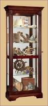 Glass Curio Cabinet With Lights Kitchen Room Magnificent Light Oak Curio Cabinet Wall Mounted
