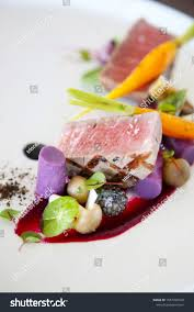 haute cuisine dishes exquisite dish creative restaurant meal concept stock photo royalty