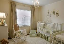 bedroom elegant baby nursery ideas with crystal chandelier