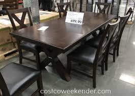bayside furnishings 9 piece dining set costco weekender