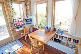 Tiny Home Dining Table Young Couple Living And Working In A 240 Sq Ft Tiny House