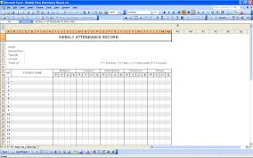 Financial Tracking Spreadsheet Student Attendance Record Excel Templates