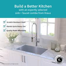 single kitchen sink faucet stainless steel kitchen sink combination kraususa