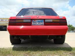fox body tail lights red fox body coupe mustang with flat black sve anniversary wheels